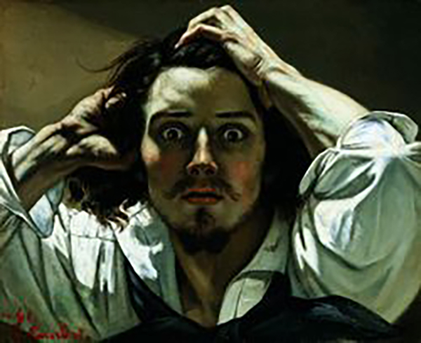 The desperate man, Gustave Courbet, 1845