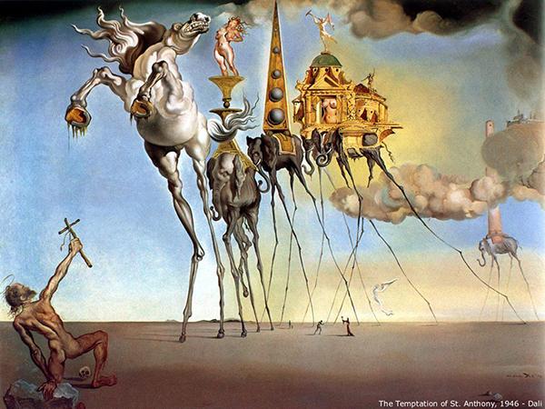 The temptation of St Anthony, Salvador Dali, 1946