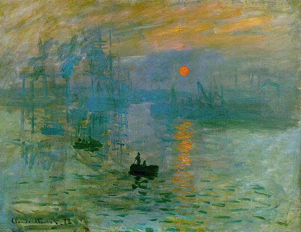 Impression d'un soleil levant, Claude Monet, 1872